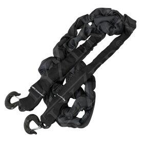 【送料無料】 牽引ロープ 最大荷重 14t フック付き 3.4m ブラック ジムニー JB23 JA11 JB64 AZオフロード ランクル ラングラー
