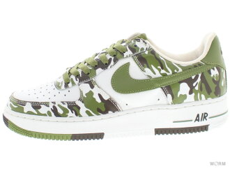 NIKE AIR FORCE 1 306353-131 white/palm green-baroque brown 에어포스미사용품