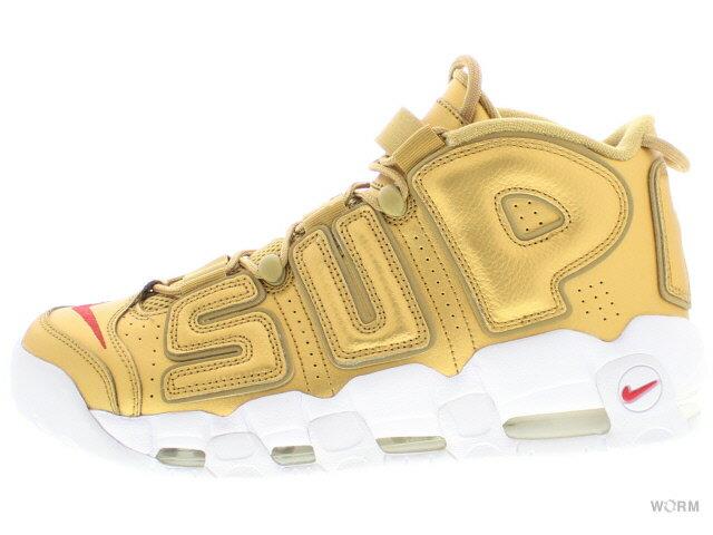 "NIKE AIR MORE UPTEMPO ""Supreme"" 902290-700 metallic gold/white ナイキ エア モア アップテンポ シュプリーム 未使用品【中古】"
