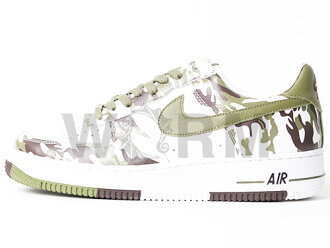 NIKE AIR FORCE 1 306353-131 white/palm green-baroque brown Airforce unread items