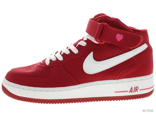 NIKE WMNS AIR FORCE 1 MID 308915-611 varsity red/white(v-day) エア フォース ミッド 未使用品【中古】