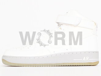 NIKE AIR FORCE 1 HIGH PREMIUM 386161-102 white/white空軍,是,未使用的物品