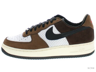 "NIKE AIR FORCE 1 LOW PREMIUM ""ESCAPE"" 312489-101 white/black-baroque browm-medium brown air force unread items"