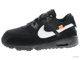 "THE 10:NIKE AIR MAX 90 (TD) ""OFF-WHITE"" bv0852-001 black/white-cone-black ナイキ エア マックス 未使用品【中古】"