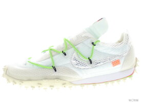 """NIKE W WAFFLE RACER / OW """"OFF-WHITE"""" cd8180-100 white/black-electric green ナイキ ウィメンズ ワッフルレーサー 【新古品】"""