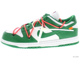 "NIKE DUNK LOW LTHR / OW ""OFF-WHITE"" ct0856-100 white/pine green-pine green ナイキ ダンク ロウ オフホワイト 【新古品】"