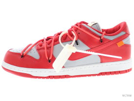 "NIKE DUNK LOW LTHR / OW ""OFF-WHITE"" ct0856-600 university red/university red ナイキ ダンク ロウ オフホワイト 未使用品【中古】"