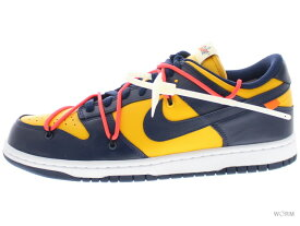 "NIKE DUNK LOW LTHR / OW ""OFF-WHITE"" ct0856-700 university gold/midnight navy ナイキ ダンク ロウ オフホワイト 未使用品【中古】"
