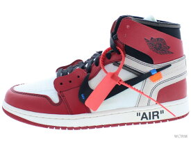 "THE 10:NIKE AIR JORDAN 1 ""OFF-WHITE"" aa3834-101 white/black-varsity red エア ジョーダン 1 未使用品【中古】"