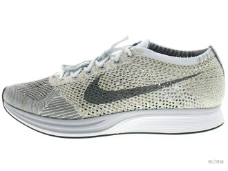 NIKE FLYKNIT RACER 862,713-002 pure platinum/cool grey-white fly knit racer-free article