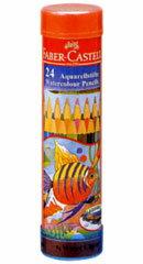 ファーバーカステル「水彩色鉛筆 丸缶 24色セット(TFC-115924)」
