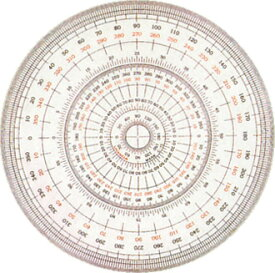 UCHIDA「全円分度器(18cm)」(1-822-0002)
