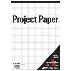 オキナ プロジェクトペーパー A4 5ミリ 方眼罫 100枚 PPA45S