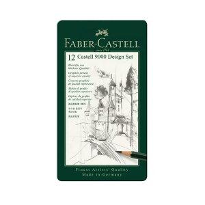 ファーバーカステル 鉛筆 カステル9000番 デザイン用12本セット 1190646