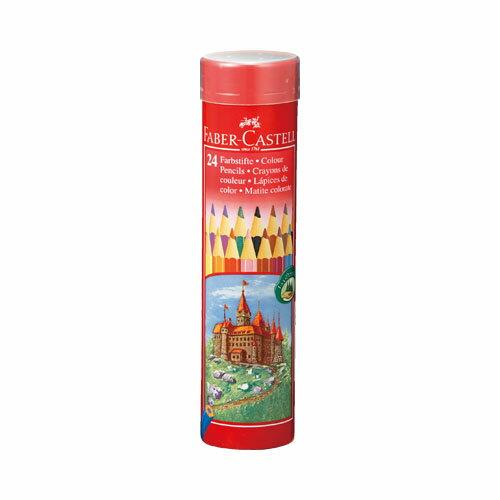 ファーバーカステル「色鉛筆 丸缶 24色セット(TFC-CPK/24C)」
