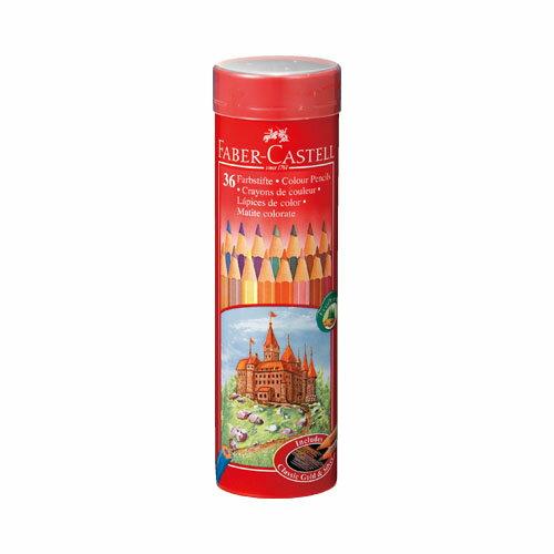 ファーバーカステル「色鉛筆 丸缶 36色セット(TFC-CPK/36C)」