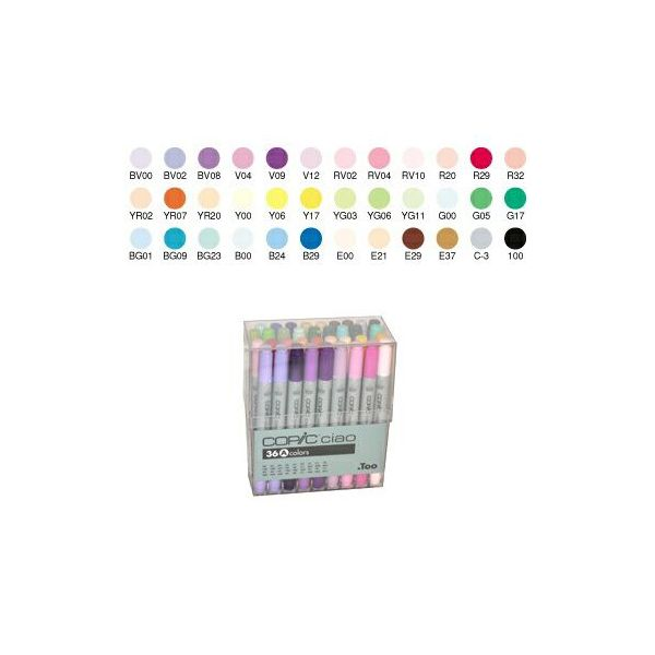 .Too「COPIC ciao コピックチャオ(36色セットA)」
