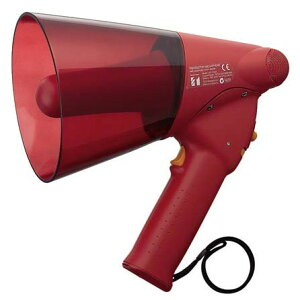 屋外の使用を想定した防滴仕様 防滴型メガホン 非常サイレン音付 ER-1106S (拡声器 TOA ER1106S 運動会 一斉避難)