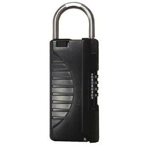 鍵の収納ボックス キーストックハンディ N-1296 ブラック 鍵の共有や大切な物の受け渡しに (キーボックス,鍵の受け渡し,n1296,ノムラテック,南京錠)