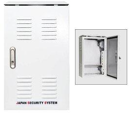 屋外用DVR収納ボックス catFE-A109 小型タイプ  鍵付き、冷却ファン付き、電源タップ付き! (街頭防犯向き)