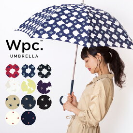 【Wpc.公式】 雨傘 カメリア ハナプリント ベーシックスター 傘 長傘 58cm はっ水 撥水 レディース 晴雨兼用 通勤 通学 ブランド 花