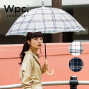 Wpc. 長傘 2カラー チェック 千鳥ミックスチェック HOUNDSTOOTH MIX CHECK 撥水 はっ水 傘 雨傘 晴雨兼用 レディース …