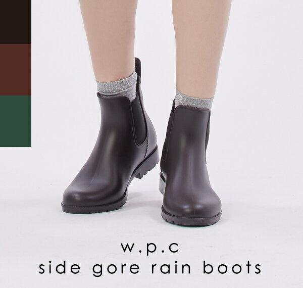【Wpc.公式】 サイドゴア レインブーツ 【雨 ブーツ 防水 レディース S M L】