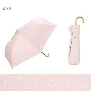 傘折りたたみ日傘晴雨兼用Wpc.公式商品遮光ハートヒートカットminiハートヒートカットuvカットデザインギフトテキスタイルおしゃれ公式ワールドパーティーファッション