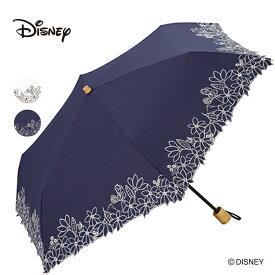 ギフト対象 【セール55%OFF】 【Wpc.公式】 傘 日傘 折りたたみ傘 晴雨兼用 レディース アリス フラワーガーデン刺繍 ミニ かわいい