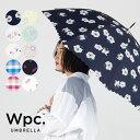 Wpc. 長傘 3カラー フラワー チェック ハート デイジー ガーリーフラワー キャンディチェック ブラーハート撥水 はっ…