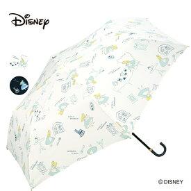 ギフト対象 Wpc. ディズニー 折りたたみ傘 アリス ミニ 傘 撥水 はっ水 雨傘 晴雨兼用 レディース 女性 雨 ふしぎの国のアリス ミニ インテリア ワンダーランド