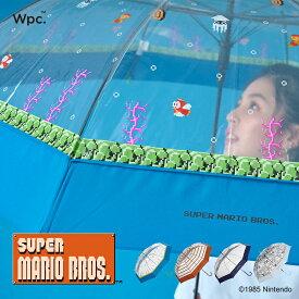【Wpc.公式】ビニール傘 スーパーマリオブラザーズ【雨傘 傘 はっ水 撥水 レディース】