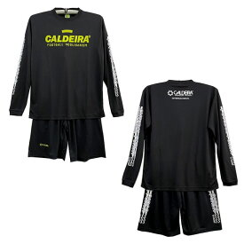 キャルデラ ロングスリーブプラLINETシャツ、LINEプラパン上下/11CR328,332/CALDEIRA/フットサル/サッカー/長袖シャツ/2021FW