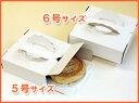 ケーキボックス浅型ガトーケース白無地:5枚パック(トレイ5枚付)