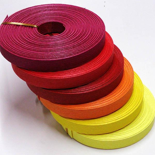 紙バンド(クラフトバンド・クラフトテープ)10m 「ウォームカラー」