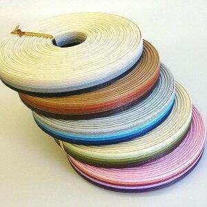 グラデーション紙バンド(クラフトバンド・クラフトテープ)10mストライプ12本取×5色パック《注》ハマナカエコクラフトではありません(宅配便のみ)
