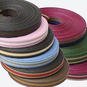 紙バンド(クラフトバンド・クラフトテープ)10m 3色ストライプ12本取り