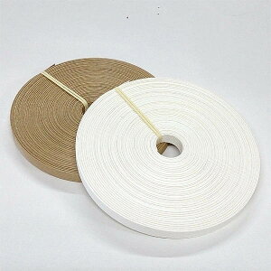 いつもお買い得!手芸用紙バンド30mクラフト&ホワイト
