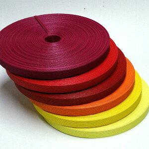 紙バンド(クラフトバンド・クラフトテープ)30m巻「ウォームカラー系」《注》ハマナカエコクラフトではありません