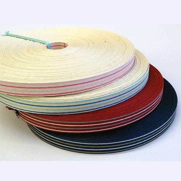 ストライプ紙バンド(クラフトバンド・クラフトテープ)12本取り☆トリプルストライプ:30m巻☆