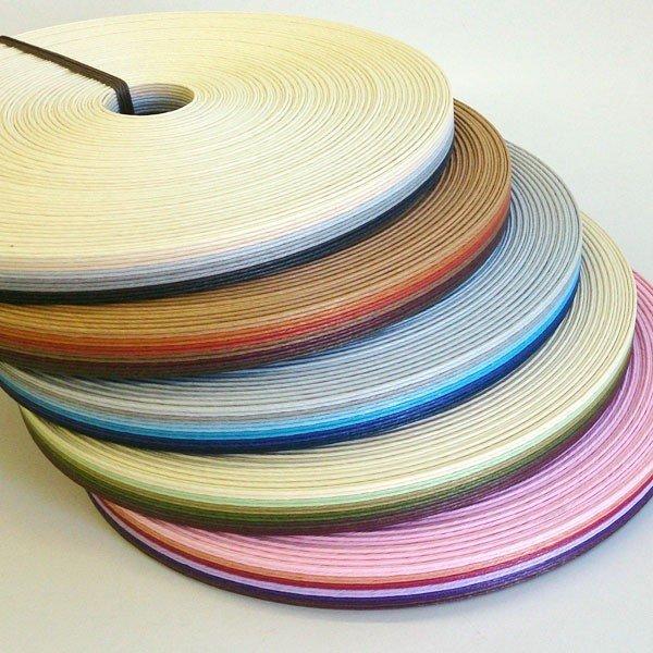 グラデーション紙バンド(クラフトバンド・クラフトテープ)30mストライプ12本取