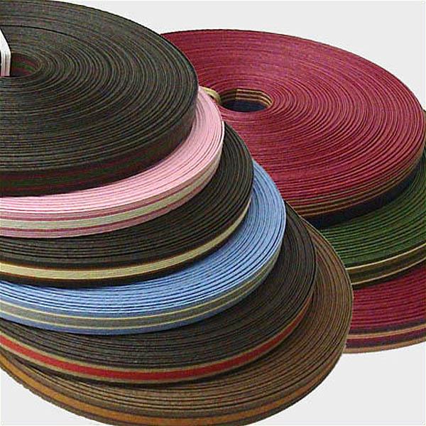 紙バンド(クラフトバンド・クラフトテープ)30m巻 3色ストライプ12本取