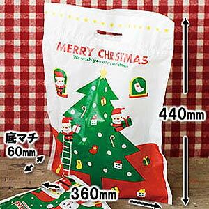 クリスマス☆手穴付PEバッグ♪底マチありの手提げバッグ