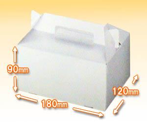 ケーキ用ハンドキャリーボックス(テイクアウトボックス)3号サイズ(5枚パック)