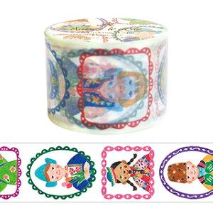 【クーポン配布中】マスキングテープ  アミファ プリマテ ワイド 世界の子供 38mm×7m