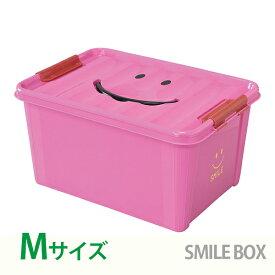 【クーポン配布中】収納ボックス SPICE スパイス スマイルボックス おもちゃ箱 ふた付き Mサイズ ピンク SFPT1520PK