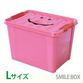 【クーポン配布中】収納ボックス SPICE スパイス スマイルボックス おもちゃ箱 ふた付き Lサイズ ピンク SFPT1530PK