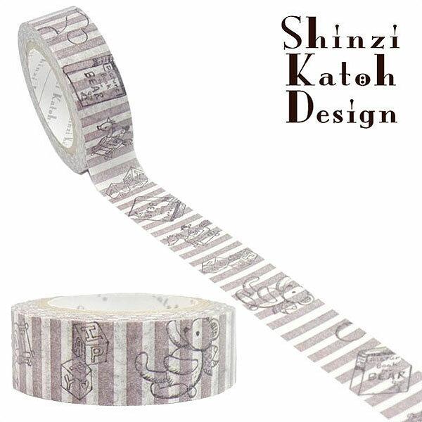 マスキングテープ シール堂 シンジカトウ/Shinzi Katoh toy world ks-mt-10018 15mm×10m