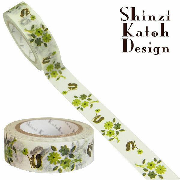 マスキングテープ シール堂 シンジカトウ Shinzi Katoh flower5 ks-mt-10051 15mm×10m