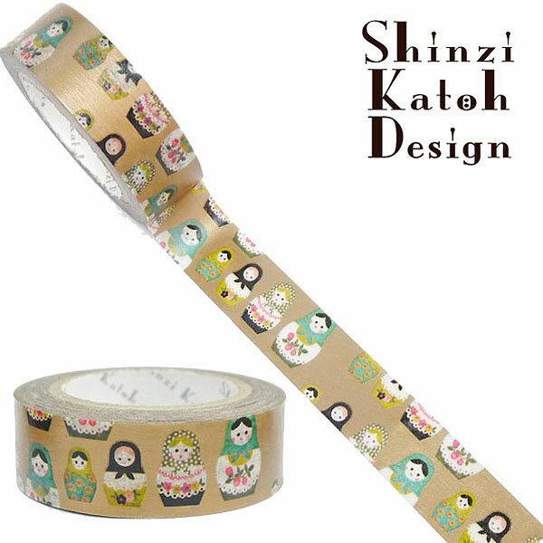 マスキングテープ シール堂 シンジカトウ Shinzi Katoh MaskingTape Plus-Paris ランタン- matryoshika ks-mt-10118 15mm×10m